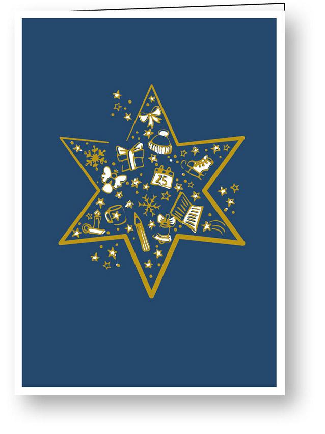 weihnachtskarte_goldene_weihnachten_stern_stiftung_kinderdorf_pestalozzi